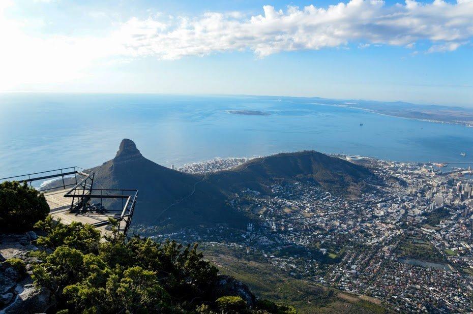 Lion's Head vista de Table Mountain
