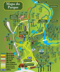 Mapa Oficial do Parque do Caracol - acesso o site