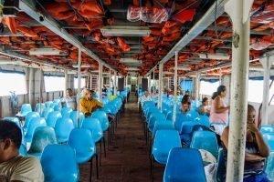 Por que não planejar viagem - barco voltando da Ilha do Marajó