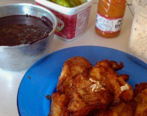 Polpa de Açaí com Peixe Frito