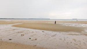 um pouco da praia de água doce